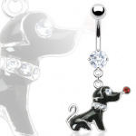 Piercing nombril chien coquet