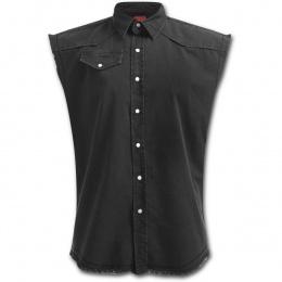 achetez ici votre chemise goth rock sans manche pour homme. Black Bedroom Furniture Sets. Home Design Ideas