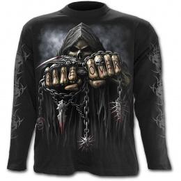 ec8898fa20e4f T-shirt gothique homme à manches longues avec la Mort à chaine de combat