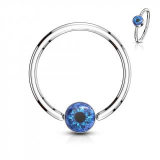 Anneau CBR oeil humain - Bleu (oreille, nombril...)