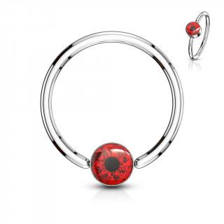 Anneau CBR oeil humain - Rouge (oreille, nombril...)