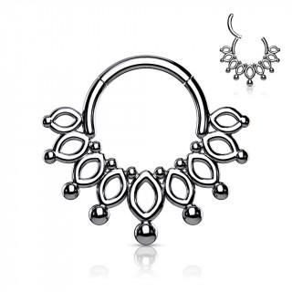 Anneau charnière style collier en acier haute précision