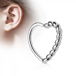 Anneau de cartilage tordable coeur cordage