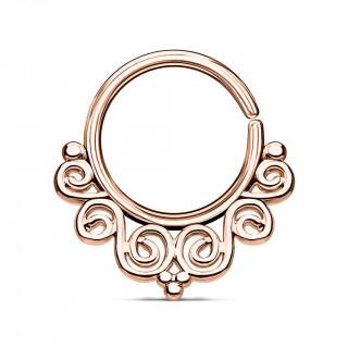 Anneau pliable cuivré style baroque (septum / cartilage oreille)