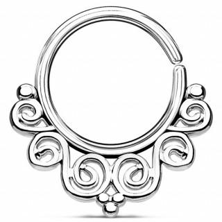 Anneau pliable style baroque (septum / cartilage oreille)