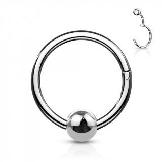 Anneau à segment en acier inox à trompe-l'oeil CBR (oreille, septum...)