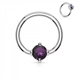 Anneau style CBR à zirconium violet captif