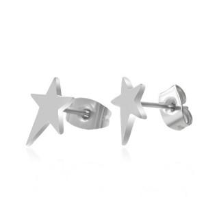 Boucles d'oreilles étoile star acier