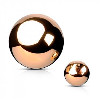 Boule de piercing en acier cuivré PVD (remplacement)