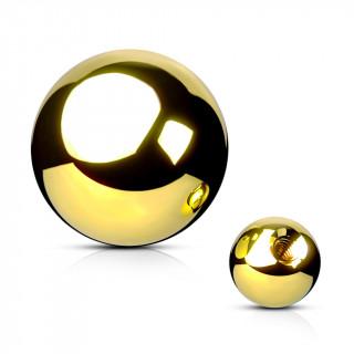 Boule de piercing en acier doré PVD (remplacement)