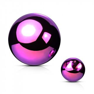 Boule de piercing violette en acier titanium PVD (remplacement)