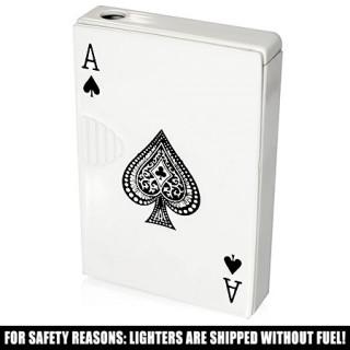 Briquet tempête imitation jeux de cartes avec quinte flush royale