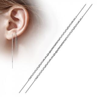Chaines d'oreilles en acier à barres suspendues (paire)