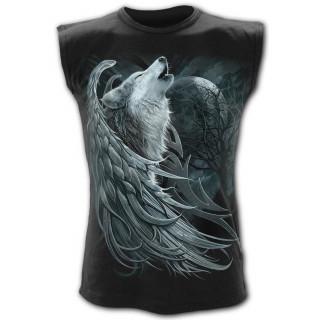 """Débardeur homme """"Esprit du loup"""" avec loup à ailes d'ange"""