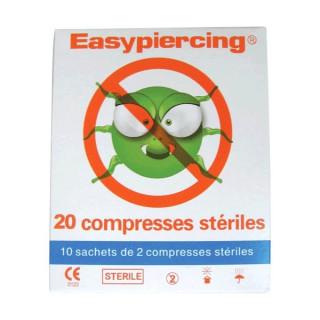Easypiercing® COMPRESSES STERILES - boite de 20