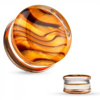 Ecarteur plug acrylique transparent à motif dunes de sable
