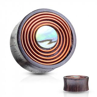 Ecarteur plug bobine en bois de sono et nacre