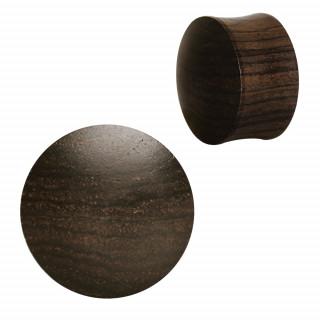 Ecarteur plug concave en bois d'ébène