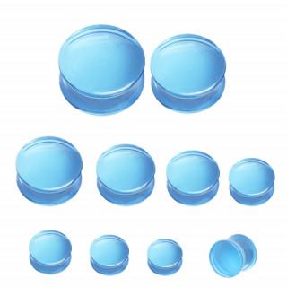 Ecarteur plug en acrylique transparent bleu ciel