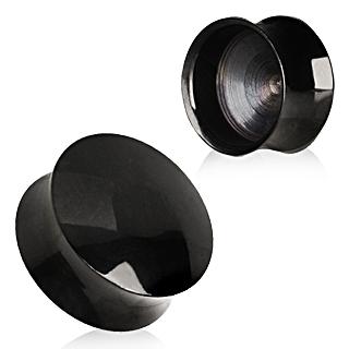 Ecarteur plug PVD noir à creux visible