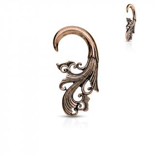 Ecarteur spirale cuivrée sculptée façon baroque