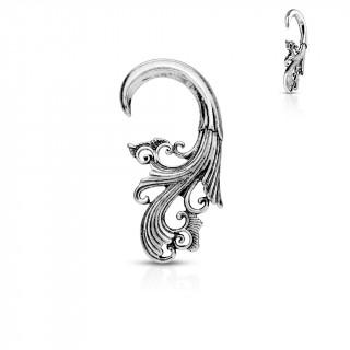 Ecarteur spirale gris sculpté façon baroque