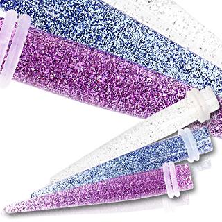 Ecarteur taper en acrylique UV pailletté