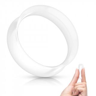 Ecarteur tunnel Blanc évasé en silicone ultra souple