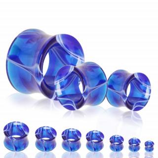 Ecarteur tunnel en acrylique marbré bleu