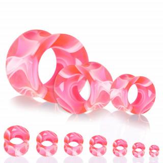 Ecarteur tunnel en acrylique marbré rose