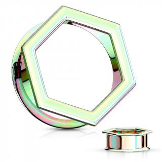Ecarteur tunnel hexagonal arc en ciel en acier