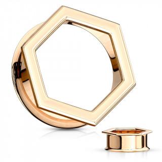 Ecarteur tunnel hexagonal cuivré en acier