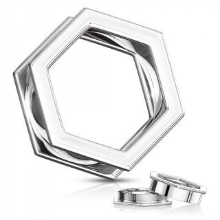 Ecarteur tunnel hexagonal dévissable en acier