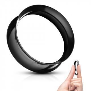Ecarteur tunnel Noir évasé en silicone ultra souple