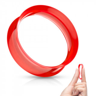 Ecarteur tunnel Rouge évasé en silicone ultra souple