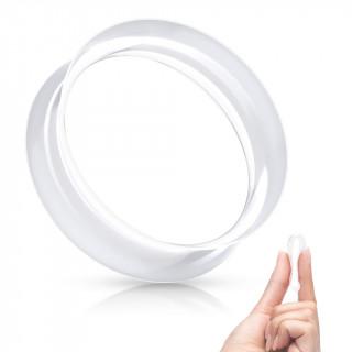 Ecarteur tunnel Transparent évasé en silicone ultra souple