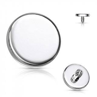 Embout disque de piercing en acier (pour tige filetage interne)