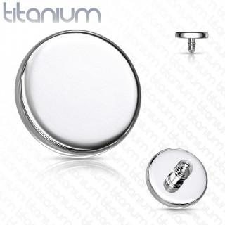 Embout disque de piercing en Titane G23 (pour tige filetage interne)