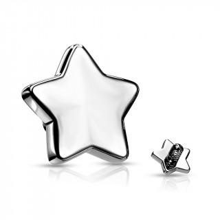 Embout étoile de piercing en acier (pour tige filetage interne)