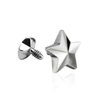 Embout étoile en acier pour piercing microdermal