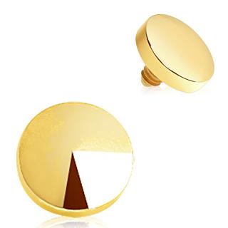 Embout microdermal doré en acier en forme de disque