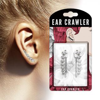 Epingles d'oreilles à 7 strass asymétriques clairs