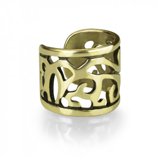 Faux piercing cartilage anneau style ancien - Bronze
