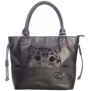 "Grand sac à main à chaton kawaii ""DELICATTY"" - Banned"