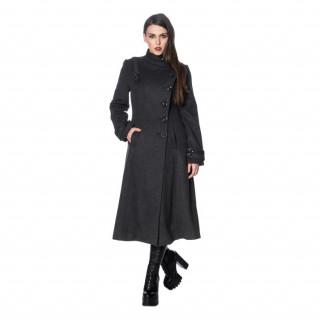 Manteau femme noir INDUSTRIAL COAT - Banned