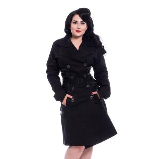 Manteau gothique femme noir ELLEN - Chemical Black