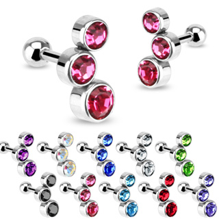 Paire de piercings cartilage style bulles