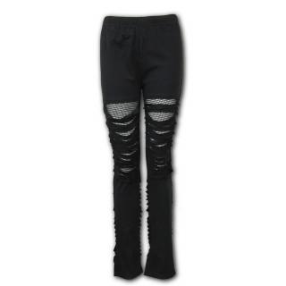Pantalon Leggings noir lacéré à maillage URBAN FASHION