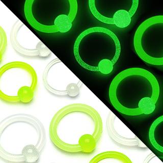 Piercing anneau captif fluorescent