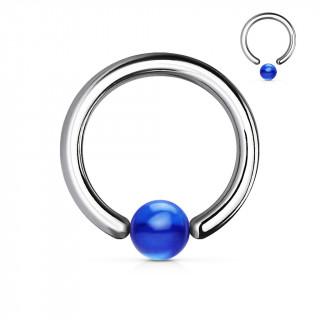 Piercing anneau CBR à boule bleue